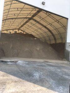 Sand at the public works garage
