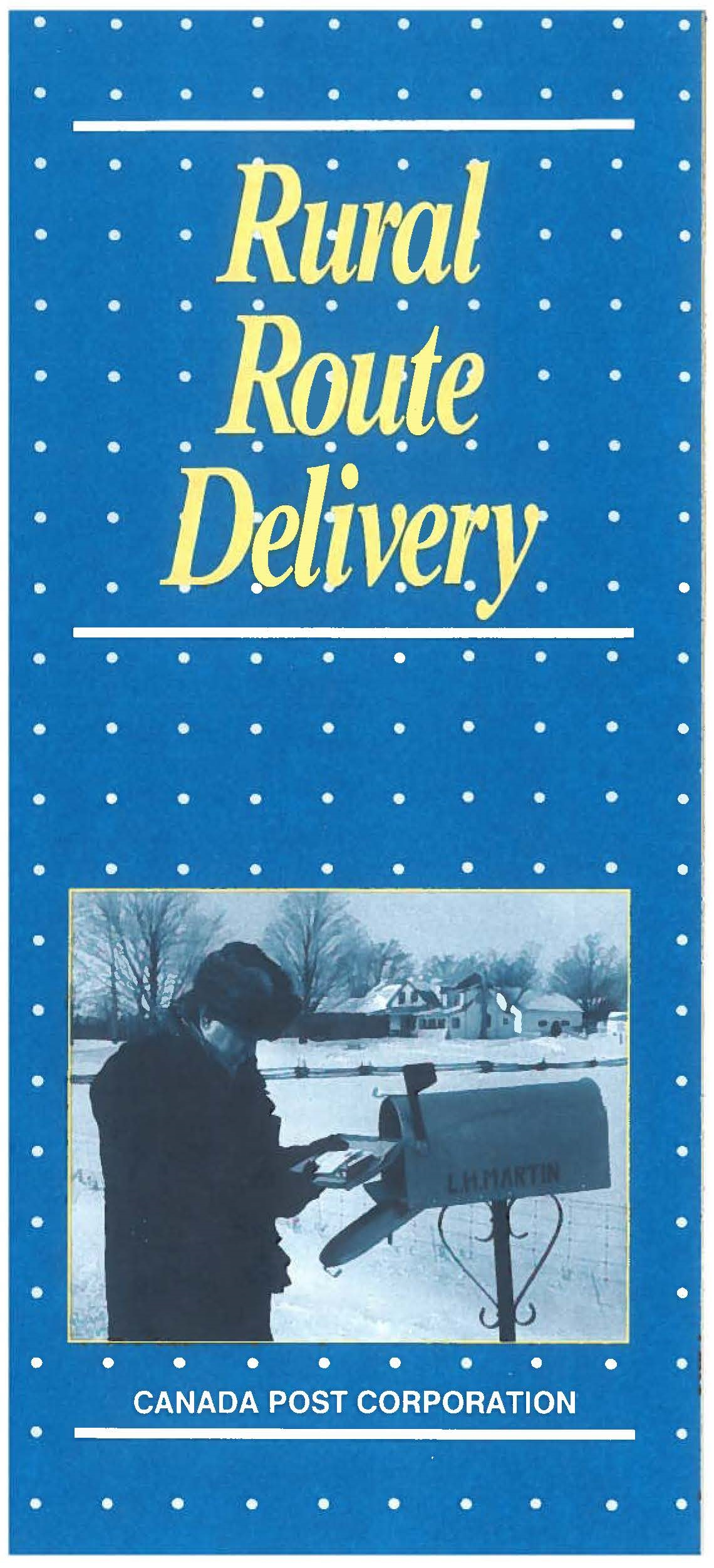 cover of the Rural route delivery pamphlet from Canada post