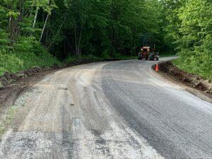 gravel work on Forsythe Road