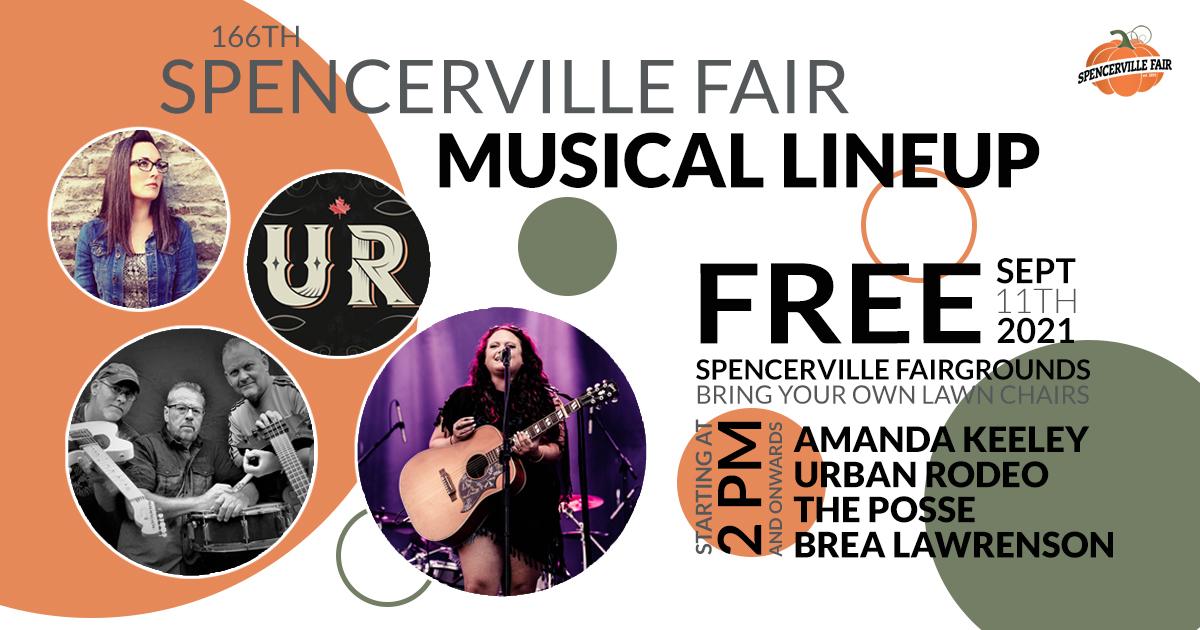 Spencerville Fair Musical Entertainment @ spencerville fair gounds