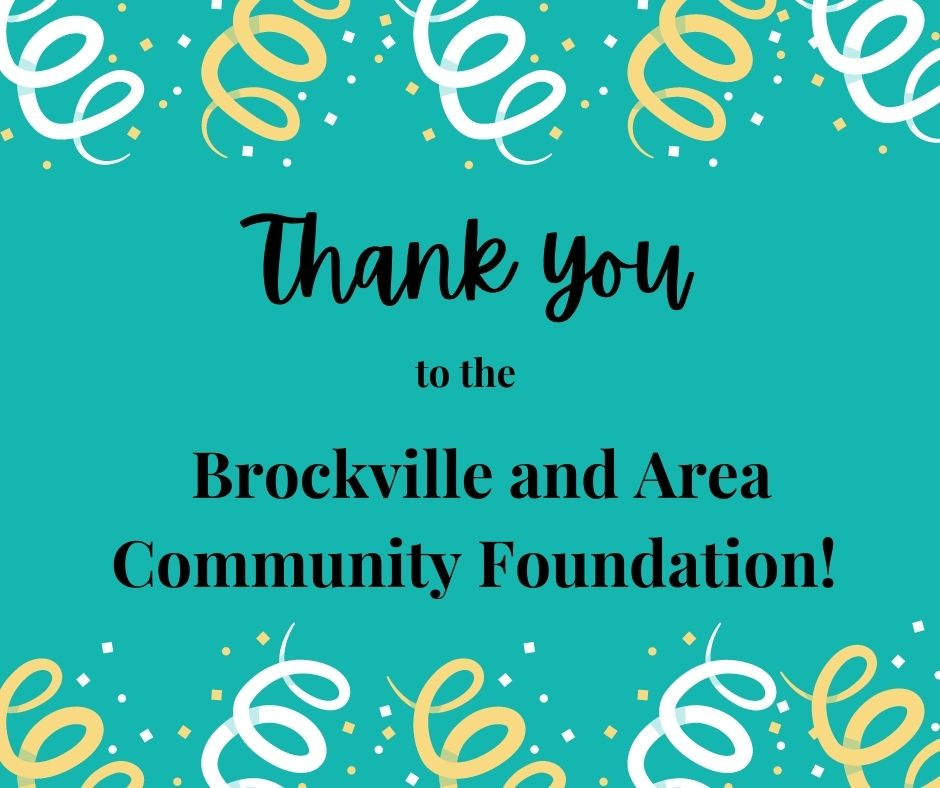 Thank you to the Brockville and Area Community Foundation!