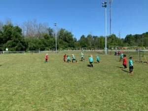 kids playing soccer in Maitland