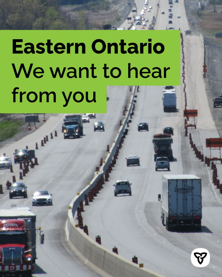 eastern ontario we want to hear from you. shows photo of a major highway