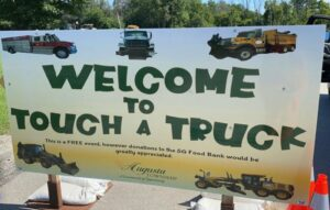 welcome to touch a truck sign