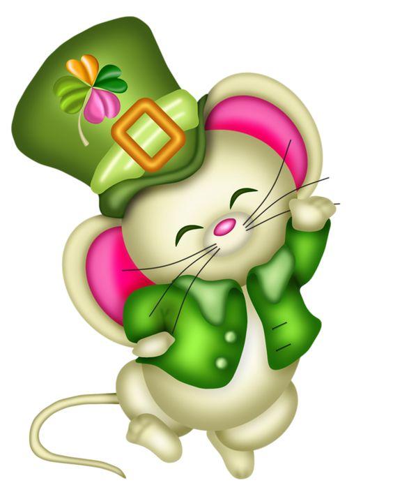 mouse dress as a leprechaun