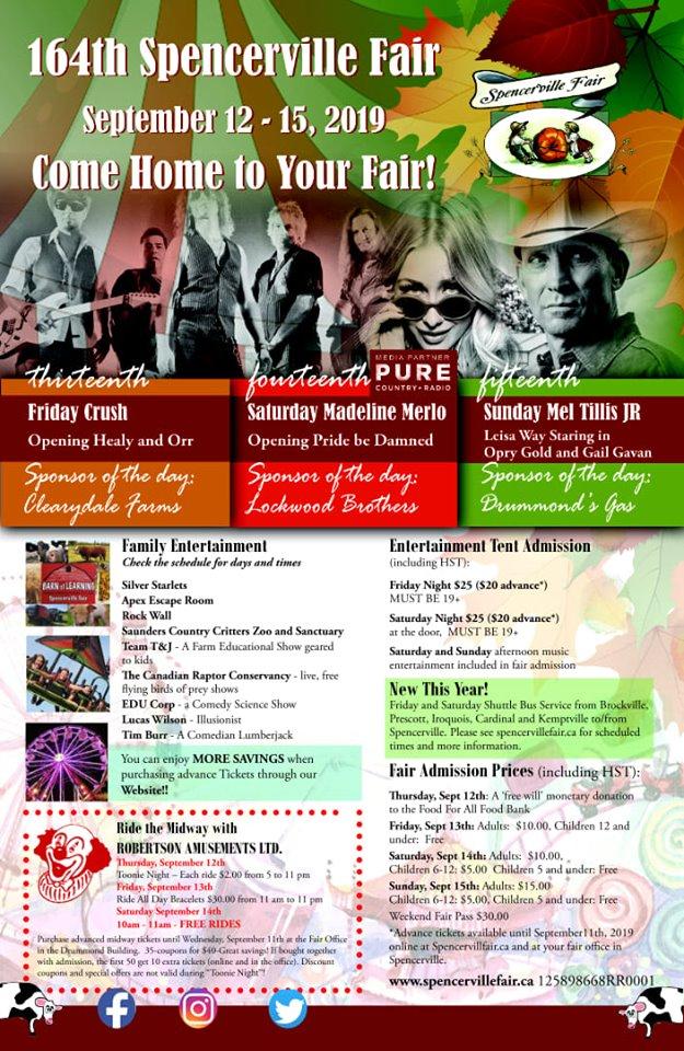 Spencerville Fair @ Spencerville Fair Grounds | Spencerville | Ontario | Canada