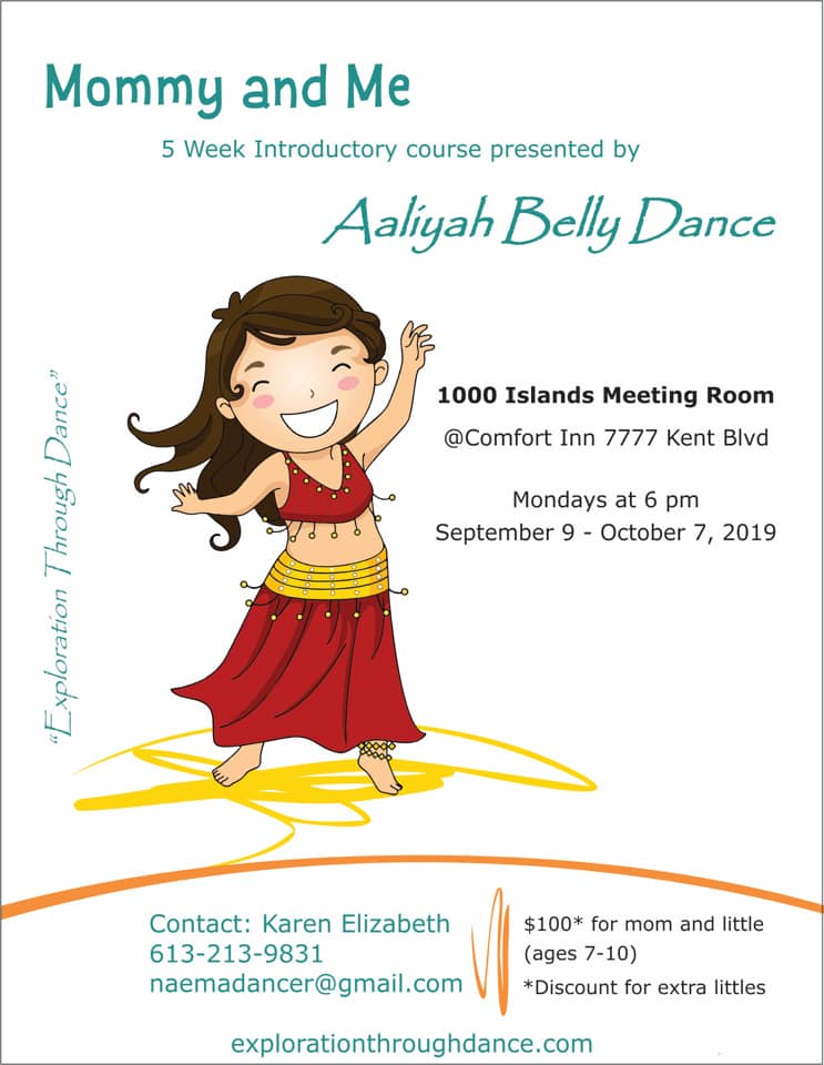 Mommy & Me Introductory Belly Dance 1st Class @ Comfort Inn Brockville | Brockville | Ontario | Canada