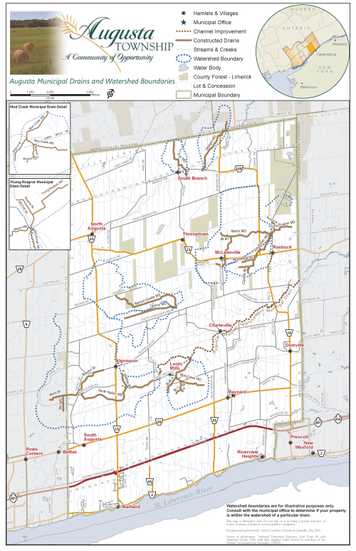picture of municipal drains map