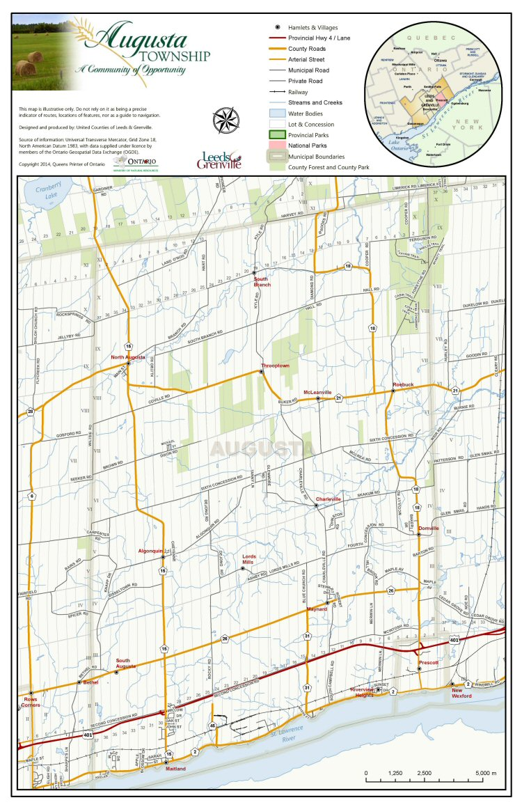 Augusta Township Map, 2016-2