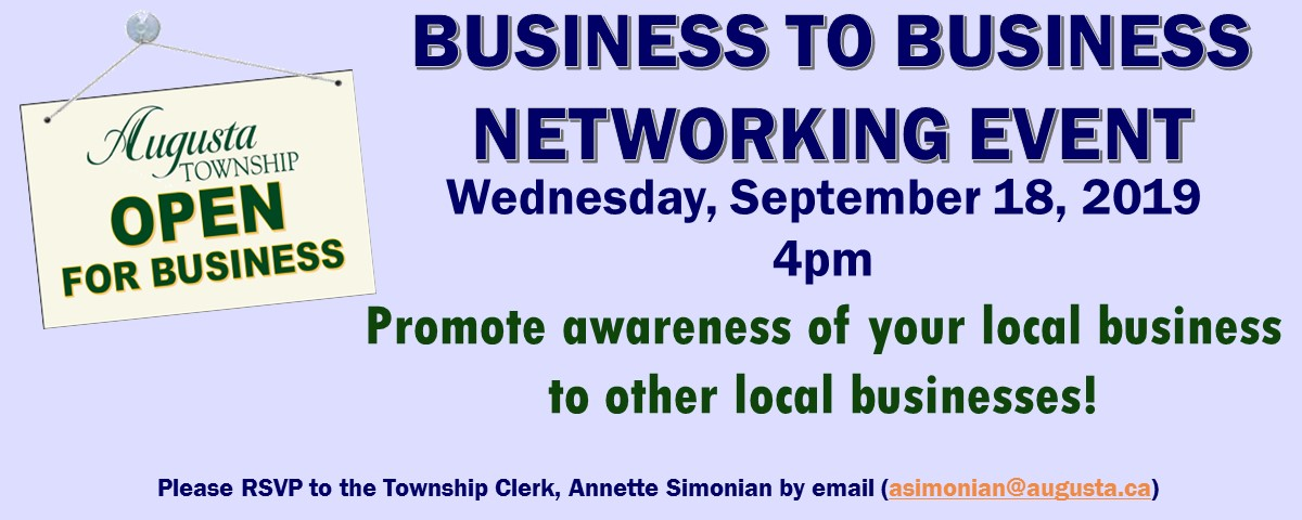 Business 2 Business Meeting @ Roebuck Community Centre | Spencerville | Ontario | Canada