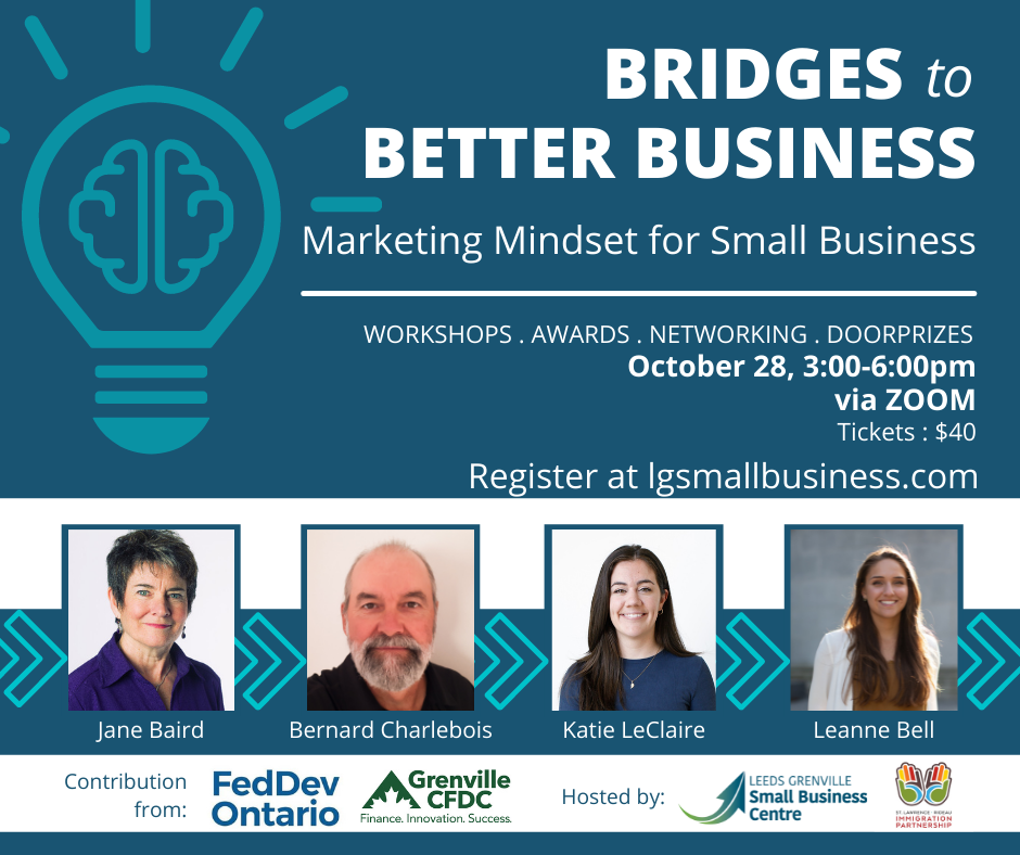 Bridges to Better Business 2021 - Marketing Mindset for Small Business Workshop @ Zoom