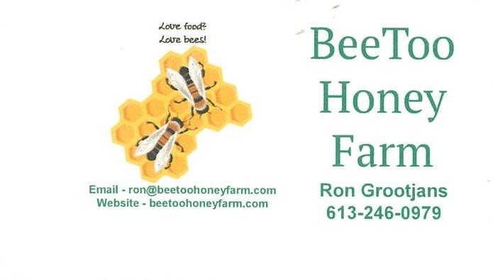 BeeToo Honey Farm business card