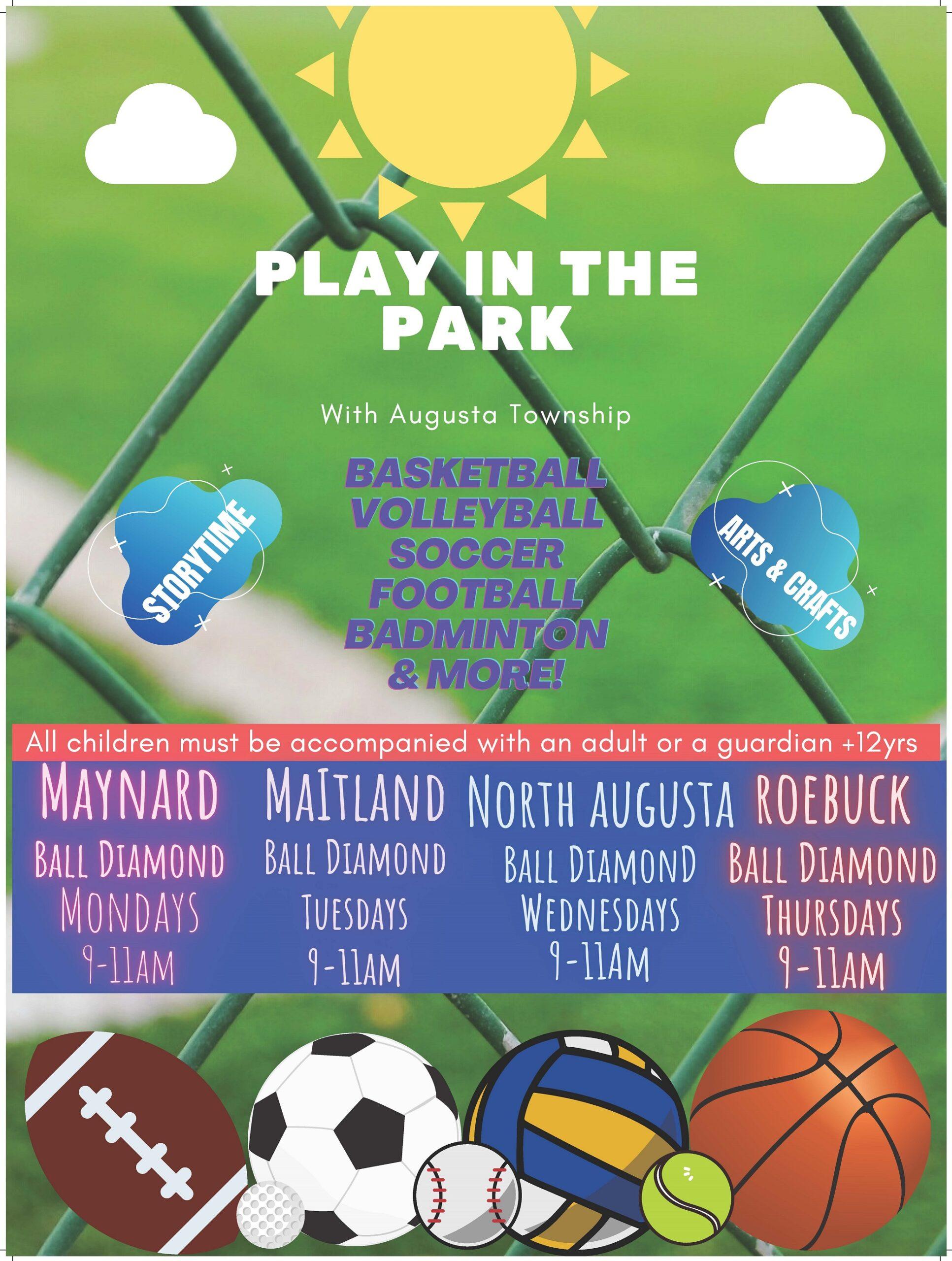 Play in the Park (Maynard) @ Maynard Ball Diamond | Ontario | Canada