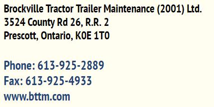 Brockville Tractor Trailer Maintenance (2001) Ltd. business card