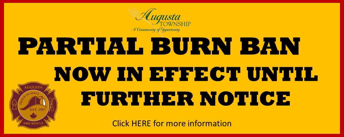 says partial burn ban now in effect until further notice.  click here for more information