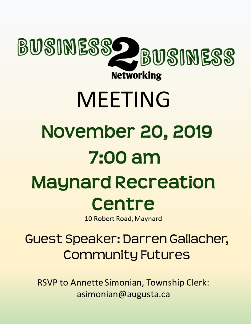 Business 2 Business Event @ Maynard Recreation Centre | Ontario | Canada