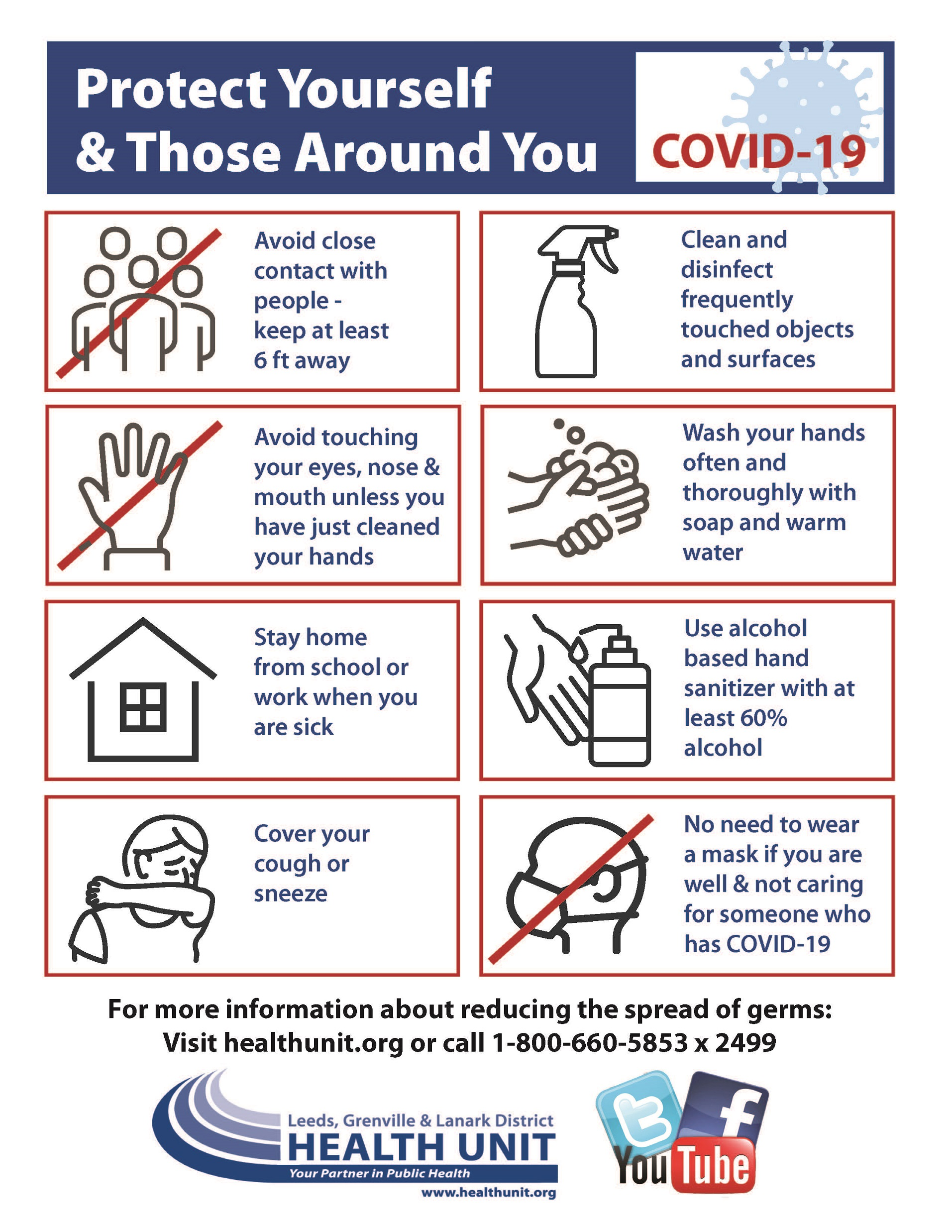 poster outlining the different steps you can take to protect yourself against COVID-19