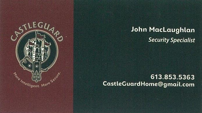 Casteguard Security business card