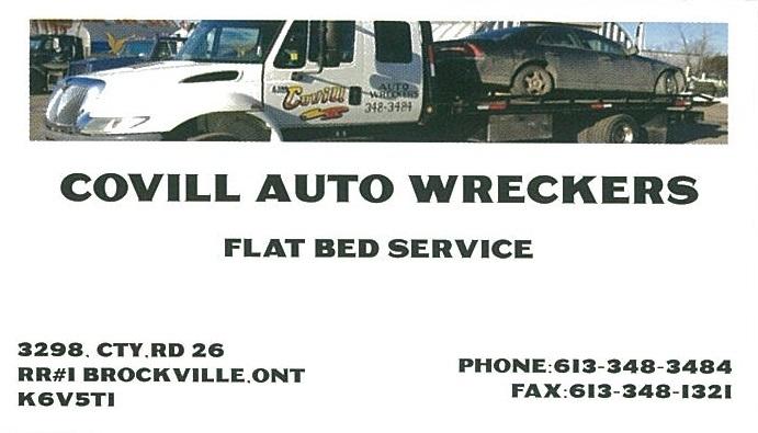 Covill Auto Wreckers business card