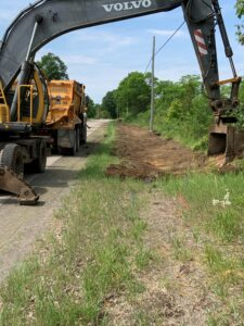 ditching work on the 6th concession road
