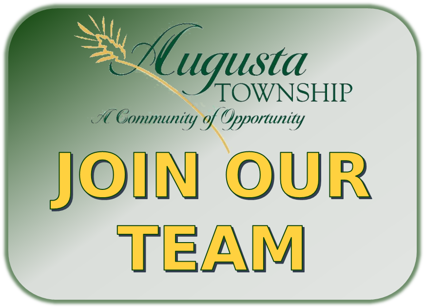 photo that says Join our team and has the township's logo