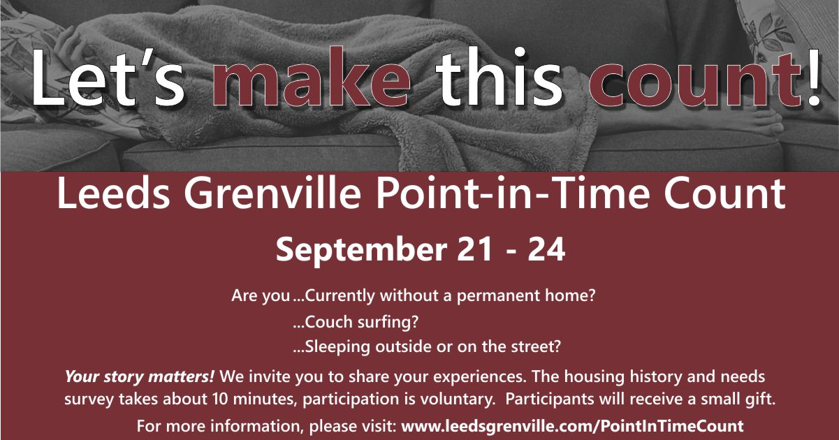 leeds grenville point-in-time coun, september 21-24 logo