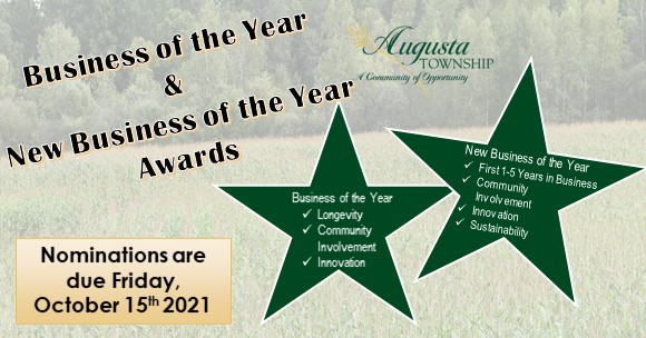 business & new business of the year logo that states nominations are being accepted until October 15, 2021