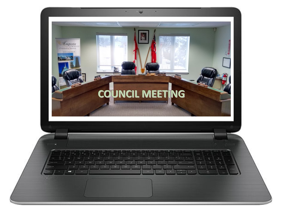 Council Meeting @ Electronic Meeting - If you wish to be invited to listen to the Council Meeting live, please email the Clerk (asimonian@augusta.ca) at least one hour before the start of the meeting.