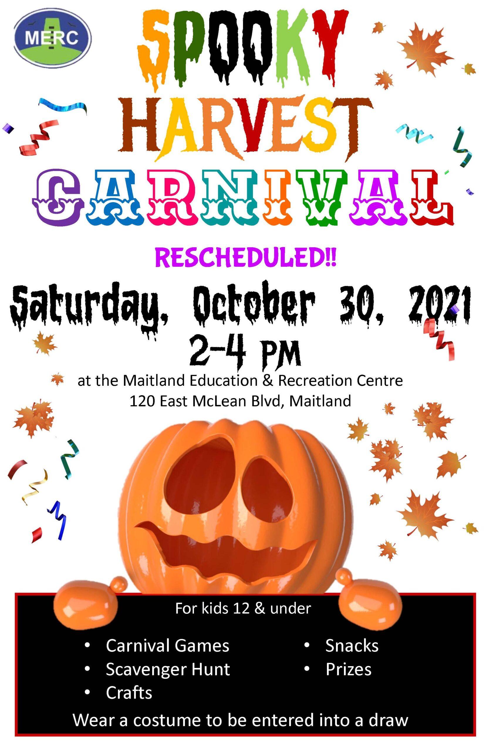 Spooky Harvest Carnival @ Maitland Education and Recreation Centre | Brockville | Ontario | Canada