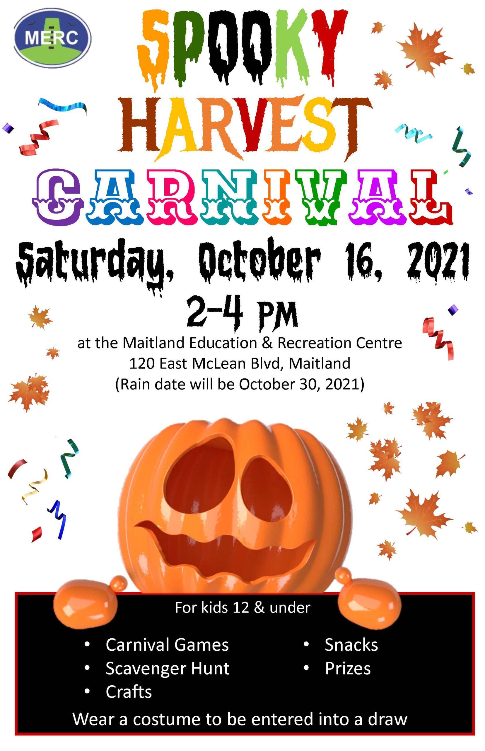 POSTPONED Spooky Harvest Carnival @ Maitland Education and Recreation Centre | Brockville | Ontario | Canada
