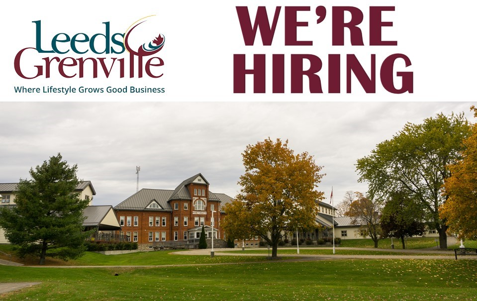 photo of maple view lodge in athens with the united counties logo.  Also says we're hiring.