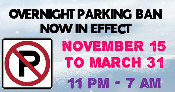 Overnight Parking Restrictions Now in Effect @ Augusta Township