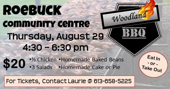 Roebuck Woodland's Chicken BBQ @ Roebuck Community Centre | Spencerville | Ontario | Canada