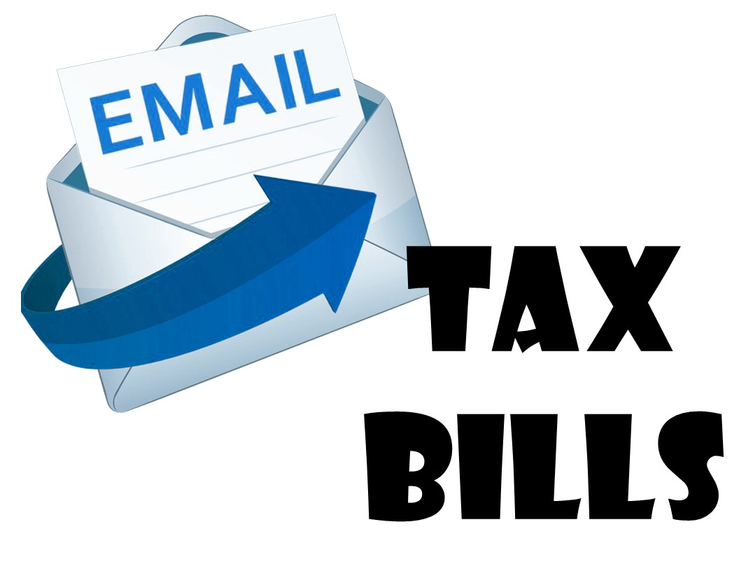 email symbol with title tax bills