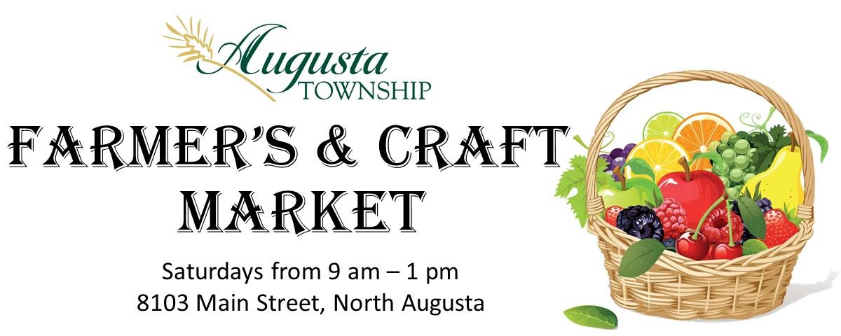 Farmer's & Craft Market.  Saturdays 9-1pm.  8103 Main Street, North Augusta