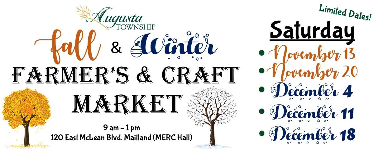 fall & winter farmer's & craft market