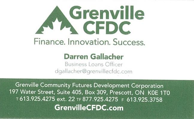 Grenville CFDC business card