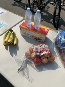 safe cycling event snacks