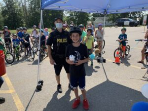 prize winners at the Safe Cycling Event