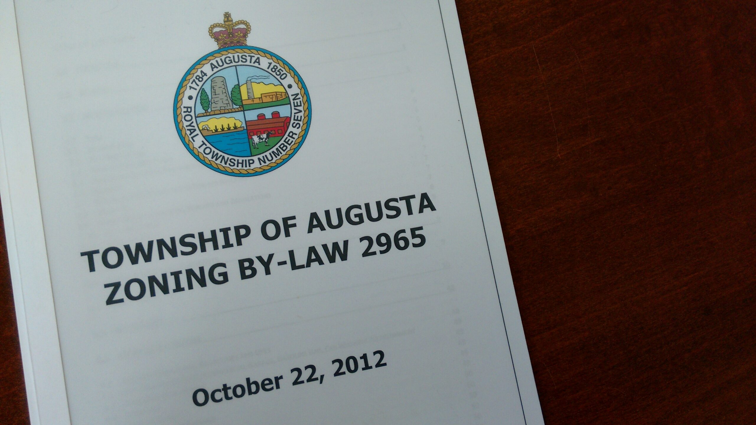 photo of the cover of the zoning by-law