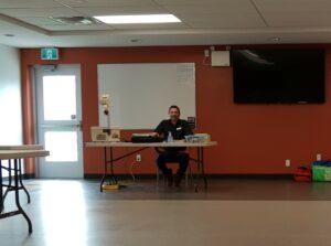 First Aid instructor Robin Yandeau