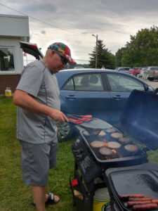 township staff at the BBQ