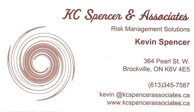KC Spencer & Associates Risk Management Solutions business card