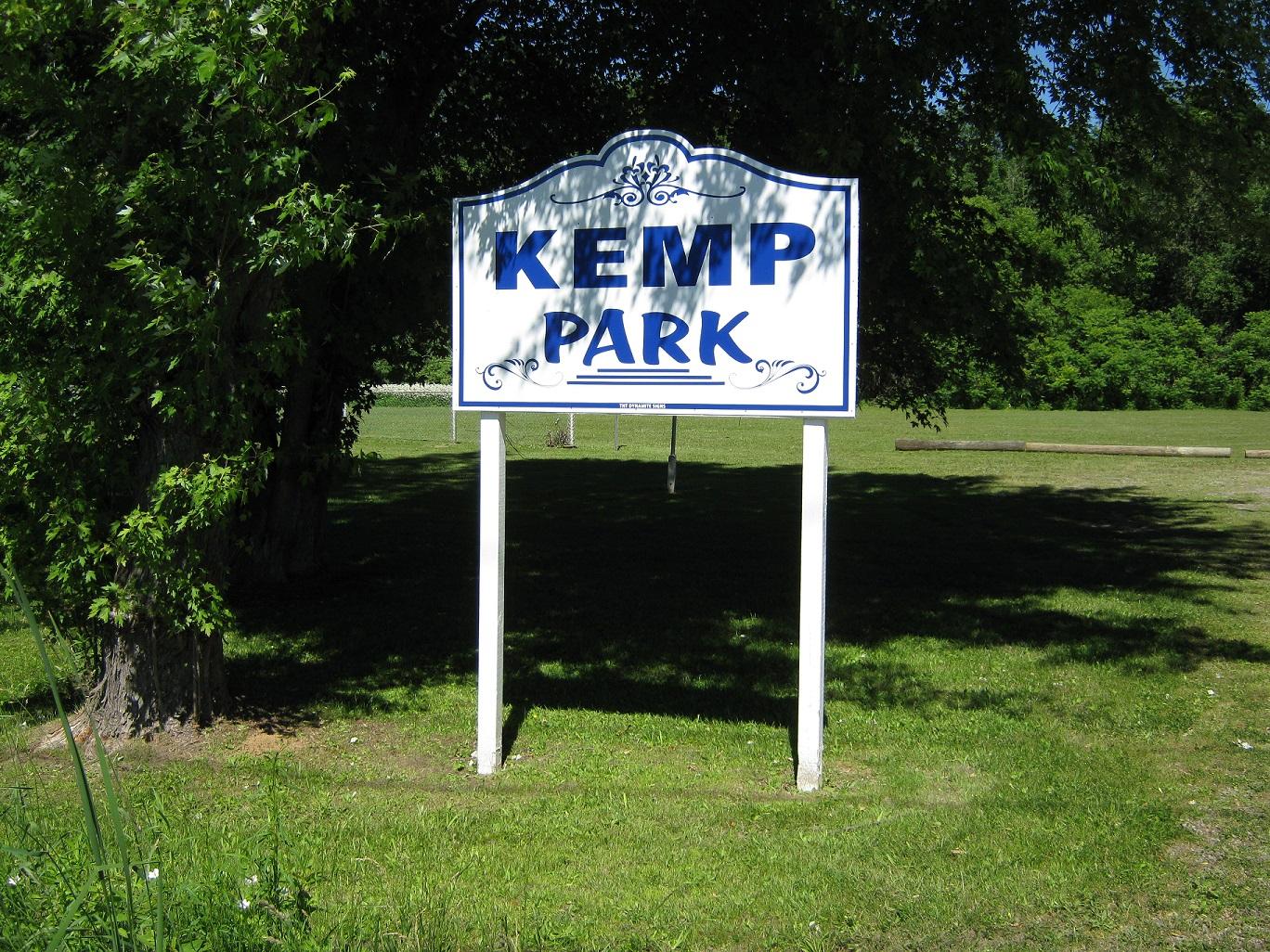 kemp park sign