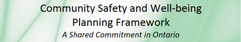 says community safety and well-being planning framework