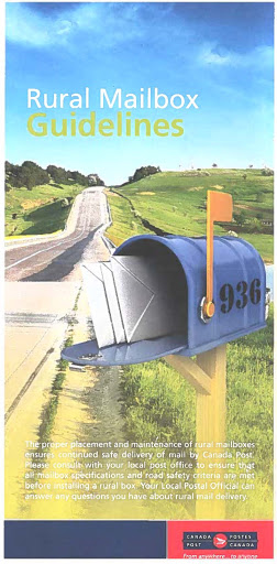 cover of guidelines pamphlet with photo of rural mailbox