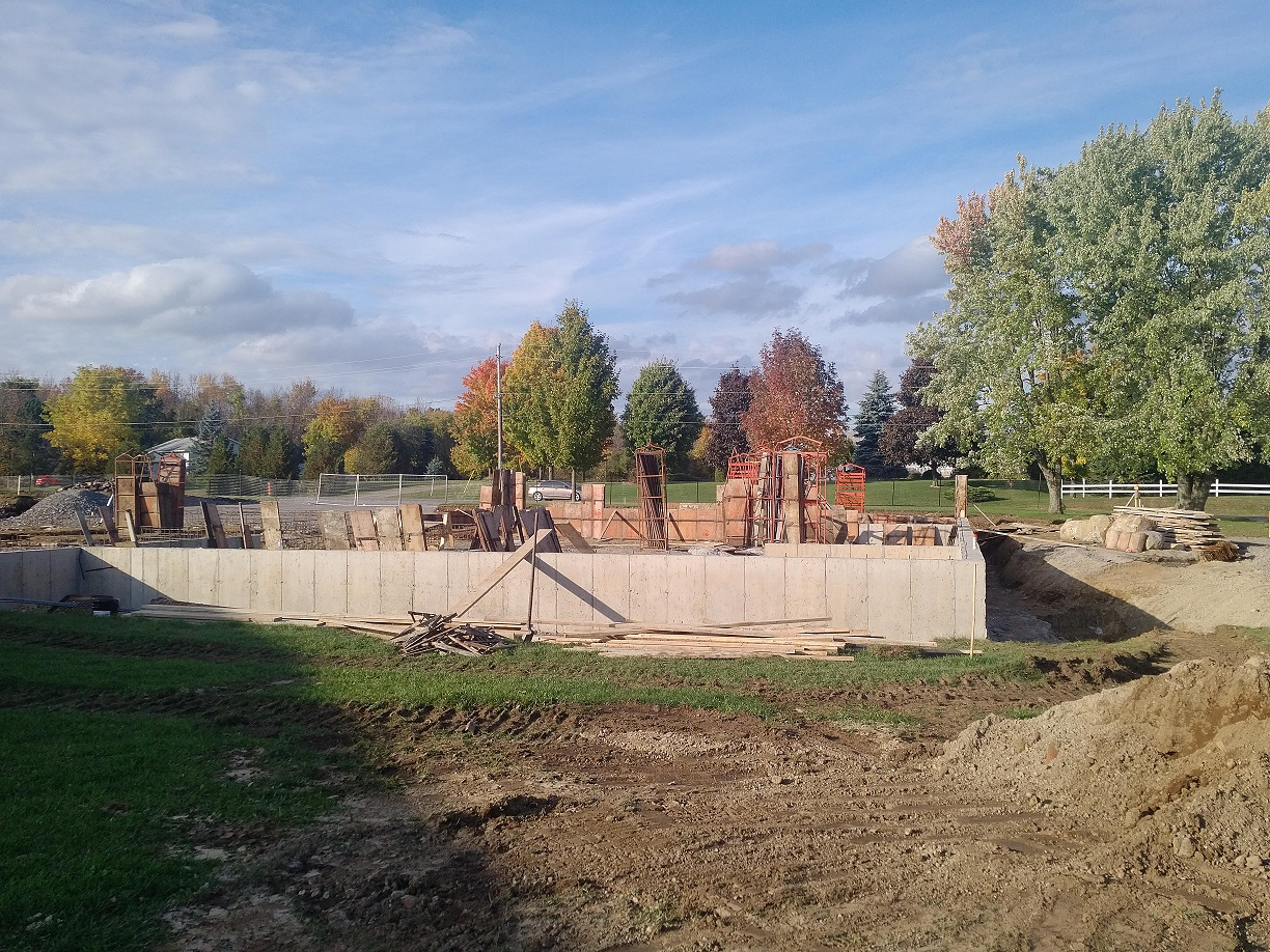 foundation walls in place