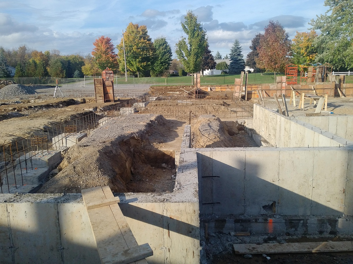 foundation wall in place