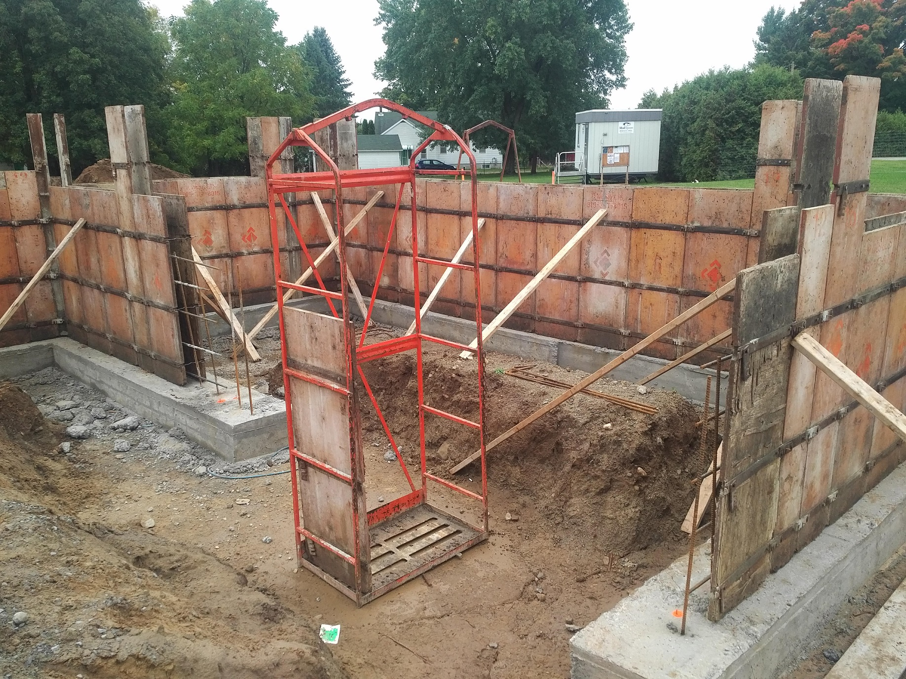 foundation walls ready for concrete pour