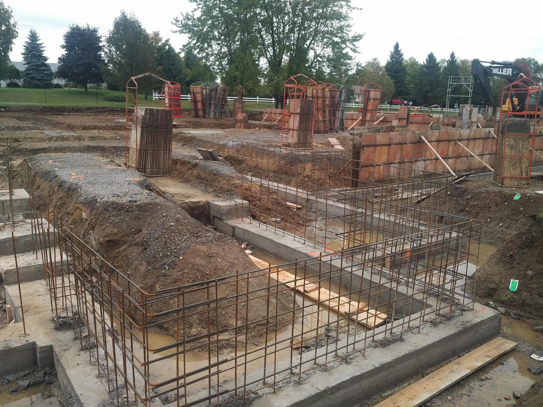 footings in place, ready for foundation walls